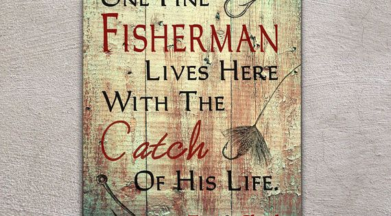 """Couples Wood Sign, 11""""x14"""", Home Decor, Outdoors Fishing, Home Gift, Couples Gift,"""