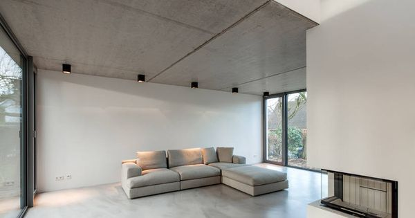 bauhaus in blankenese sichtbeton kann auch im wohnzimmer sch n sein inneneinrichtung. Black Bedroom Furniture Sets. Home Design Ideas
