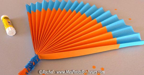 eventail en papier bricolage t le vent activit s pour enfants pinterest t papier et. Black Bedroom Furniture Sets. Home Design Ideas