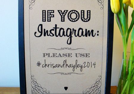 this instagram sign is a good idea so that you can get