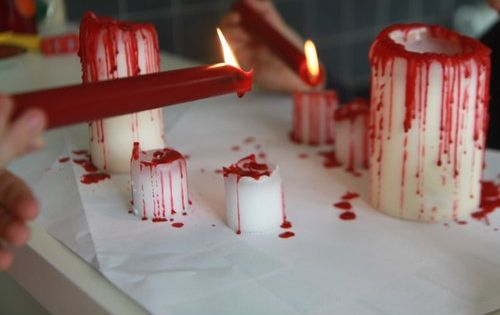 Bloody candles halloweenparty halloweendecor