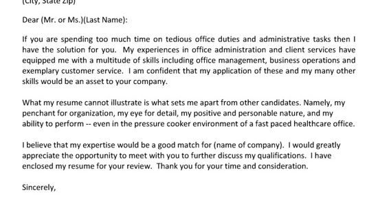 Cover Letter Example, Letter Example And Sample