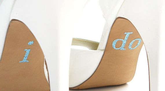 Wedding Stickers- Something Blue for Your Shoes by Forweddingsake: Sparkle stickers. $10