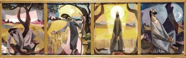 Christ In The Wilderness By Harold Wood Peter Nahum At The Leicester Galleries Painting Art Wood