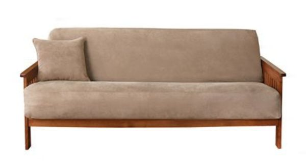 Soft Suede Futon Covers Sure Fit With Images Futon Covers Futon Slipcover Futon