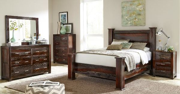 Grayson Dark Brown 6 Piece Queen Bedroom Set Bedroom