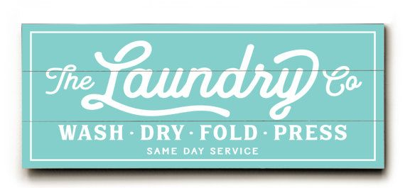 Wash And Dry Laundry Service Co Canvas Or Wood Planked Wash