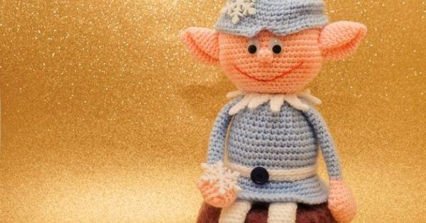 crocheted christmas elf weihnachtself selber h keln diy deko h keln stricken pinterest. Black Bedroom Furniture Sets. Home Design Ideas