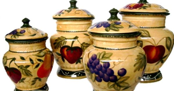 Decorative Canister Sets Kitchen Home Decor Tuscany