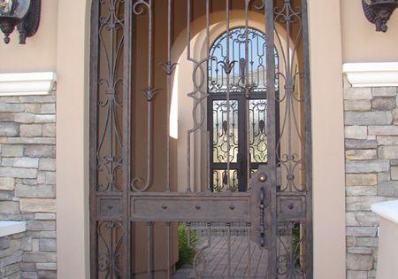 Puertas con arco de hierro forjado google search - Arcos decorativos para puertas ...