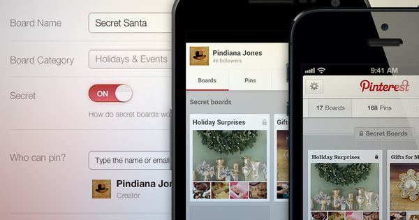 Surprise! Pinterest announces secret boards. How will you use your 3 new