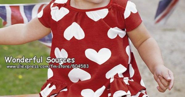 toddler s red and white heart play suit cute baby