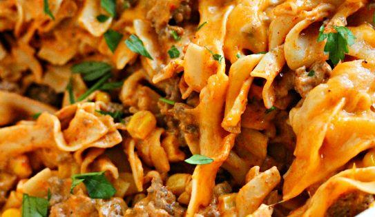 Enchilada Pasta Casserole Recipe. - 1 pound ground beef - 1/2 tsp.