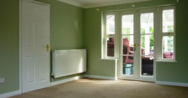 Green lichen french door paint colour pinterest green for Green french doors