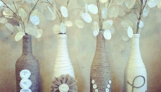 Wine bottle vase DIY Crafts