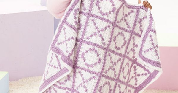 Hugs And Kisses Crochet Baby Blanket Pattern : Caron International Free Project Hugs and Kisses ...