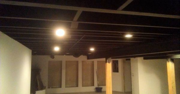 Painting Basement Ceiling Black Painting Basement