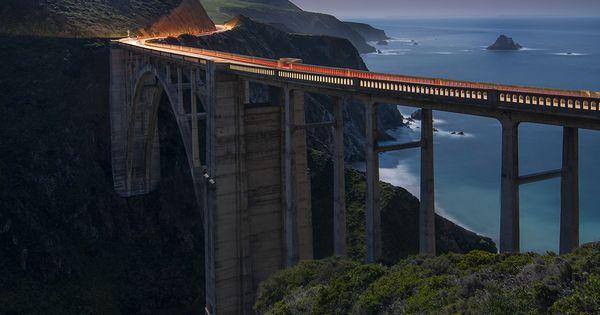 The Bixby Bridge by Moonlight by Matt Granz, via 500px Pacific Coast