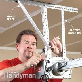 How To Install A Garage Door Opener Garage Door Opener Installation Garage Door Installation Garage Door Opener Repair