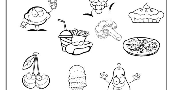 healthy me coloring pages - photo#13