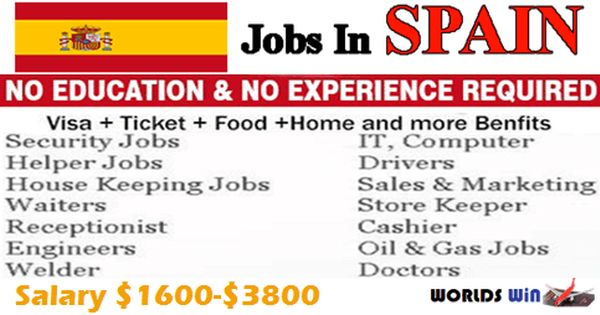 Multiple Job Vacancies Open In Spain Helper Jobs Job Job Opening