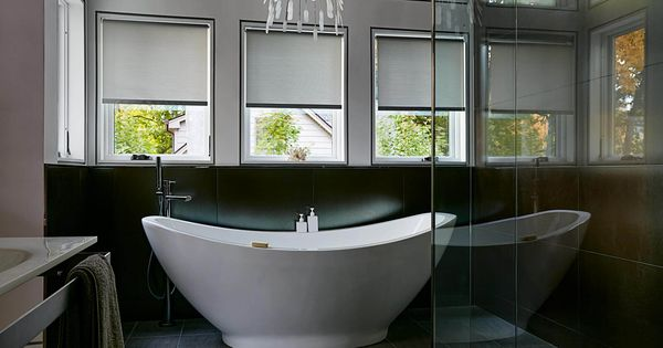 Roller Shades Over Tub Blinds For Windows Bathroom Window