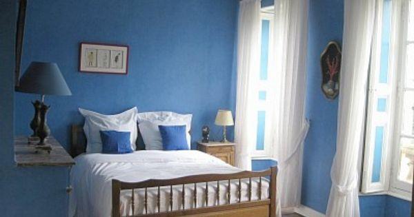 Blaue Schlafzimmer, Dekoration, Designs, Decoration
