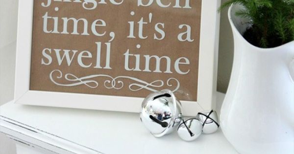 jingle bell time... Michelle this is a cute sign!