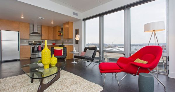 Modern High Rise Apartment Living In Downtown Grand Rapids Michigan To See More Of The Project Apartment Living High Rise Apartments Home Decor