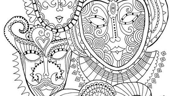 Kust Kleurplaten Ausmalen Erwachsene Karneval Coloring 5 Pinterest