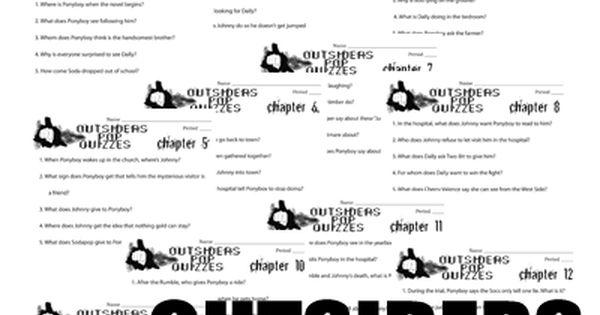 outsiders 12 pop quizzes printable assessments this 24 page quiz bundle has 12 pop quizzes to. Black Bedroom Furniture Sets. Home Design Ideas