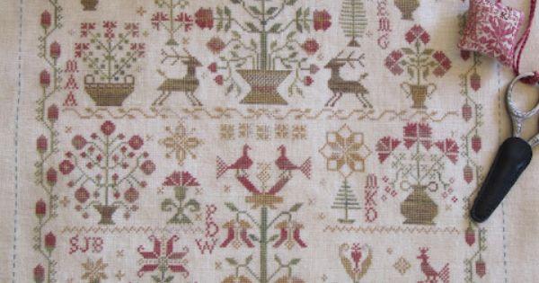 Blackbird design christmas garden with alphabet stitched for Blackbird designs christmas garden