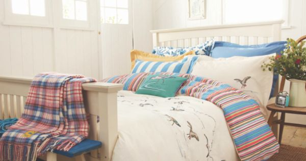 DUVETSEABIRD Reversible Coastal Birds Duvet Cover