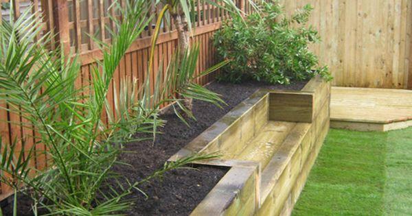 Built in planter ideas jardins bordure de jardin et planters - Planter campanule des murs ...