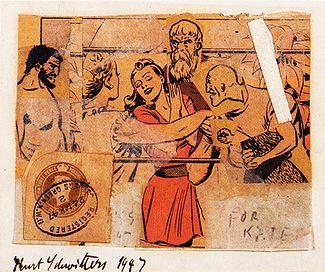 For Kate Kurt Schwitters Collage 1947 Kurt Schwitters Wikipedia Kurt Schwitters Collage Assemblage Art