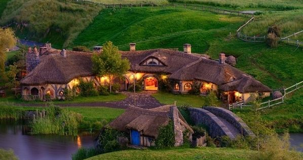 Hobbiton - New Zealand. Movie named The Hobbit: An Unexpected Journey (2012)