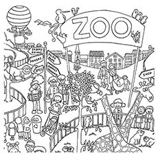 The People Watching Animals Zoo Coloring Pages Zoo Animal Coloring Pages Coloring Pages