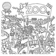 De Mensen Kijken Animals Zoo Coloring Pages Zoo Animal Coloring Pages Coloring Pages