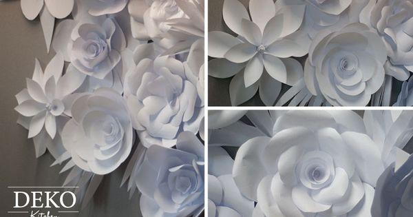 Diy romantische papierbl tenwand aus kopierpaier einfach for Romantische geschenke selber machen