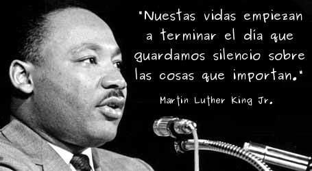 Martin Luther King Jr Frases Español Buscar Con Google
