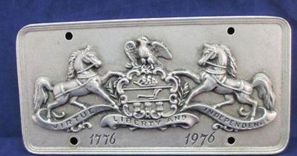 Pa Bicentennial Pewter License Plate Wilton Armetale 1776 1976 Pa Coat Arms Ebay Dream Home