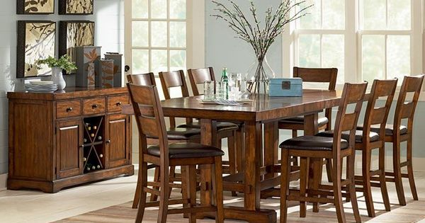 Mission style dining room set mission style pinterest dining room sets room set and dark - Mission style dining room furniture ...