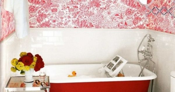 red bathroom interior design bathroom design ideas| http://eye-makeup-8104.blogspot.com