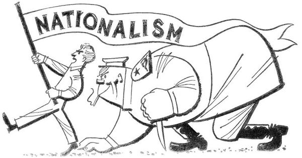 This picture is representing nationalism during WW1. Nationalism ...