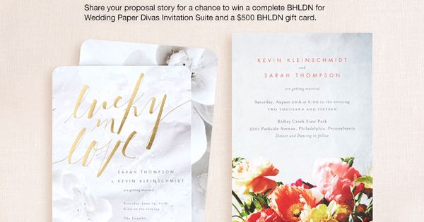 Wedding Gifts For USD500 : ... Wedding Paper Divas invitation suite + USD500 gift card! Pinterest