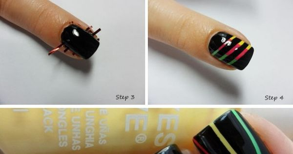 DIY Nail Art | Step-By-Step Picture Tutorial | Easy DIY Black with