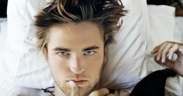 Robert Pattinson. I'm usually a 'only think you're hot when you're Edward'