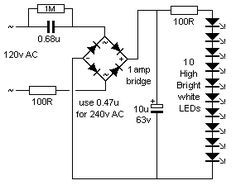 led lamp schematic diagramm