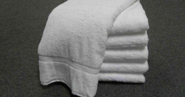 Bath Towels White 24x48 Premium Blend White Bath Towels 24x48