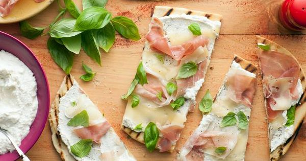 Italian Flatbread (Piadina) with Fontina and Prosciutto Recipe : Giada De Laurentiis
